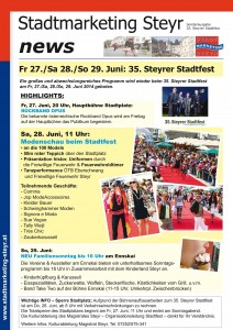 Stadtmarketing NEWS_Steyrer Stadtfest 2014.indd